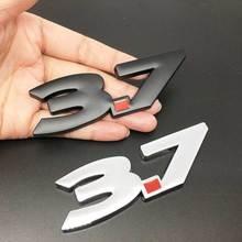 1 шт. металлический 3D логотип 3,7, автомобильный боковой брызговик, задний багажник, эмблема, наклейка для Infiniti Q50 Q50L G37 G25 QX70 FX35 FX37, автомобильны...