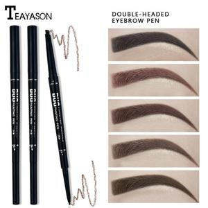 1PCS Eyebrow Pencil Waterproof Natural Long Lasting Ultra Fine Eye Brow Tint Cosmetics Black Brown Color Eye Brow Make Up TXTB1