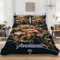 Thanos Marvel Superhero Winter Bettwäsche set König-Voller Bettwäsche Gehören Bettbezug Kissenbezug Drucken Home Textil Bett Bettwäsche