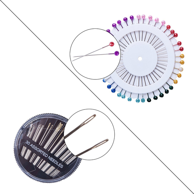 Sewing Kit Filled With Scissors Thread Spool Thimble Eyebrow Clip Measuring Tape Threaders 126 Accessories Travel Home Needle Th 3