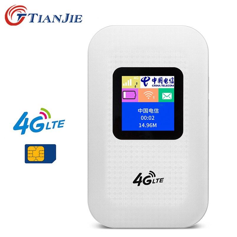 TianJie 4G LTE Wifi routeur point d'accès Mobile Mifi 150Mbps Modem sans fil 3G 4G Wi-Fi routeur avec emplacement Sim voiture haut débit
