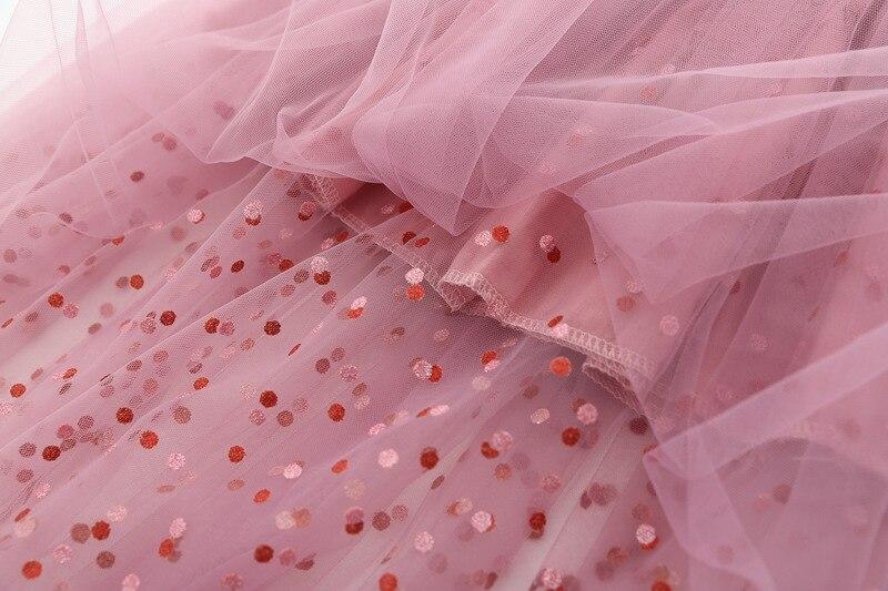 Fashion Sequins Girl Skirt Tutu Baby Kids Girl Princess Mesh Party Dance Ballet Tutu Skirts Tule Skirt Girls Children Skirt Long 5