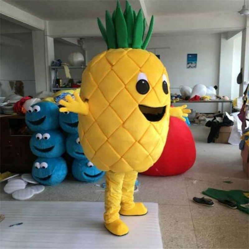 Pineapple Mascot Costume Fruit Cosplay Party Fancy Dress Parade Outfit Adults US Halloween Halloween Inflatables Outdoor Decor