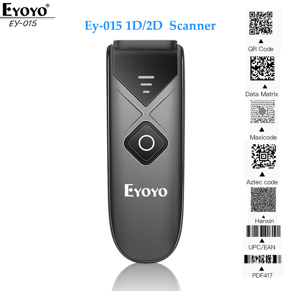 Barcode Scanner Tablets iPad Mini Eyoyo Android Wireless-1d QR iPhone EY-015 USB 2D