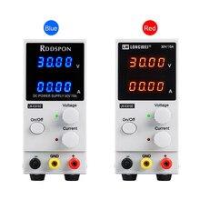 Fuente de alimentación CC de 30V 10A con pantalla de 4 dígitos, Mini fuente de alimentación de conmutación de laboratorio ajustable, reguladores de voltaje de carga USB