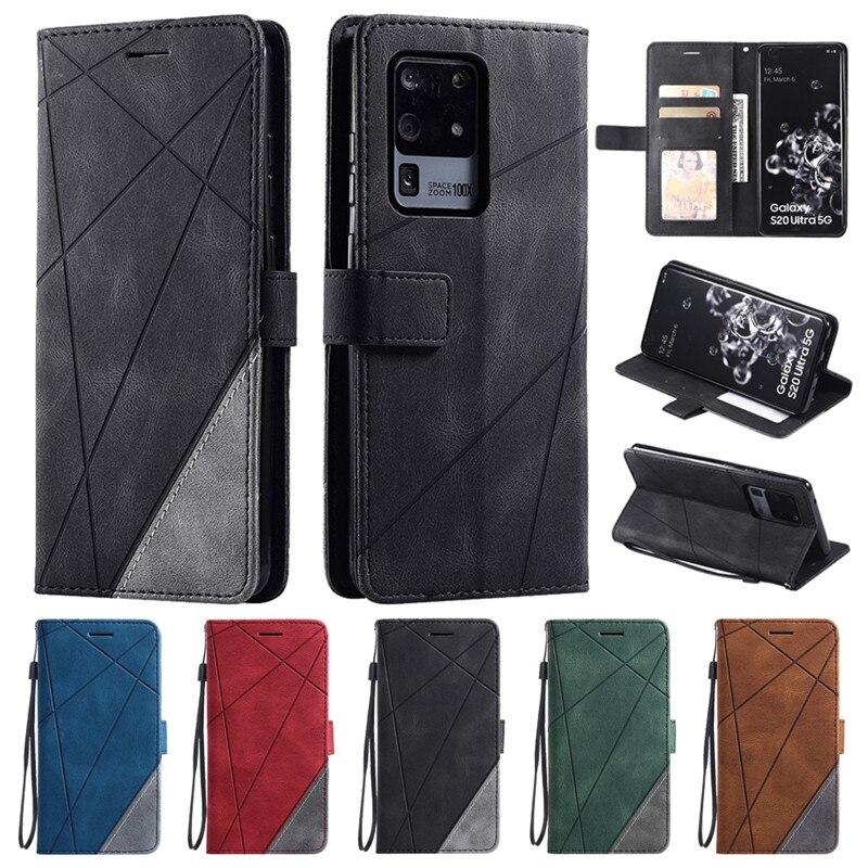 Klapki skórzane Etui na Samsung Galaxy S10 S8 S9 S20 Plus S 20 Ultra uwaga 9 8 10 Plus Lite S7 krawędzi Etui na telefony portfel pokrywa Etui