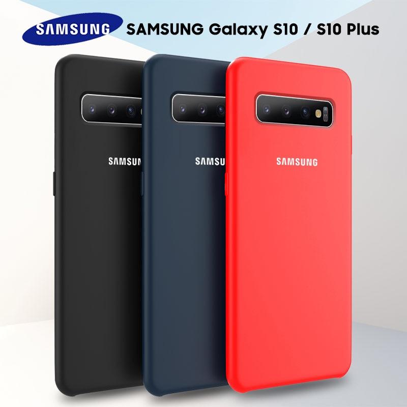 Samsung S10 Case Original High Quality Soft Silicone Protector Case Samsung Galaxy S8 S9 S10 Plus S10e Note 8 9 10 Silicone Case