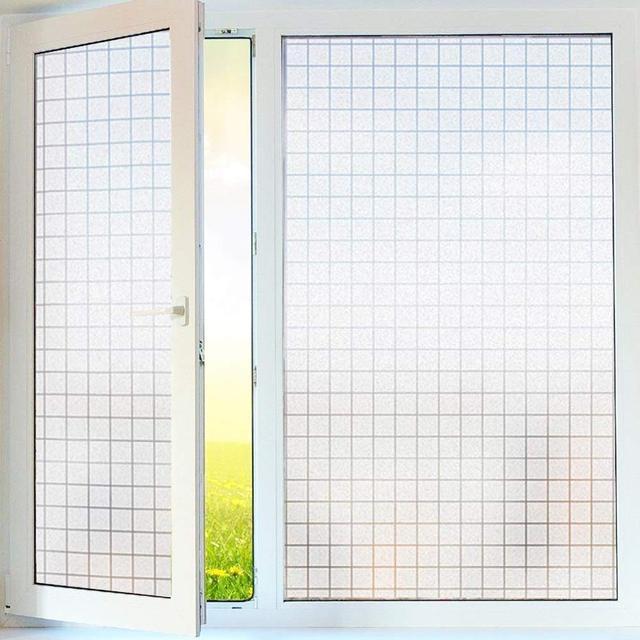 Window Privacy Film, Static Window Cling Decor Window Decals Vinyl ,Glass Self-adhesive Window Sticker for Home Windows 2