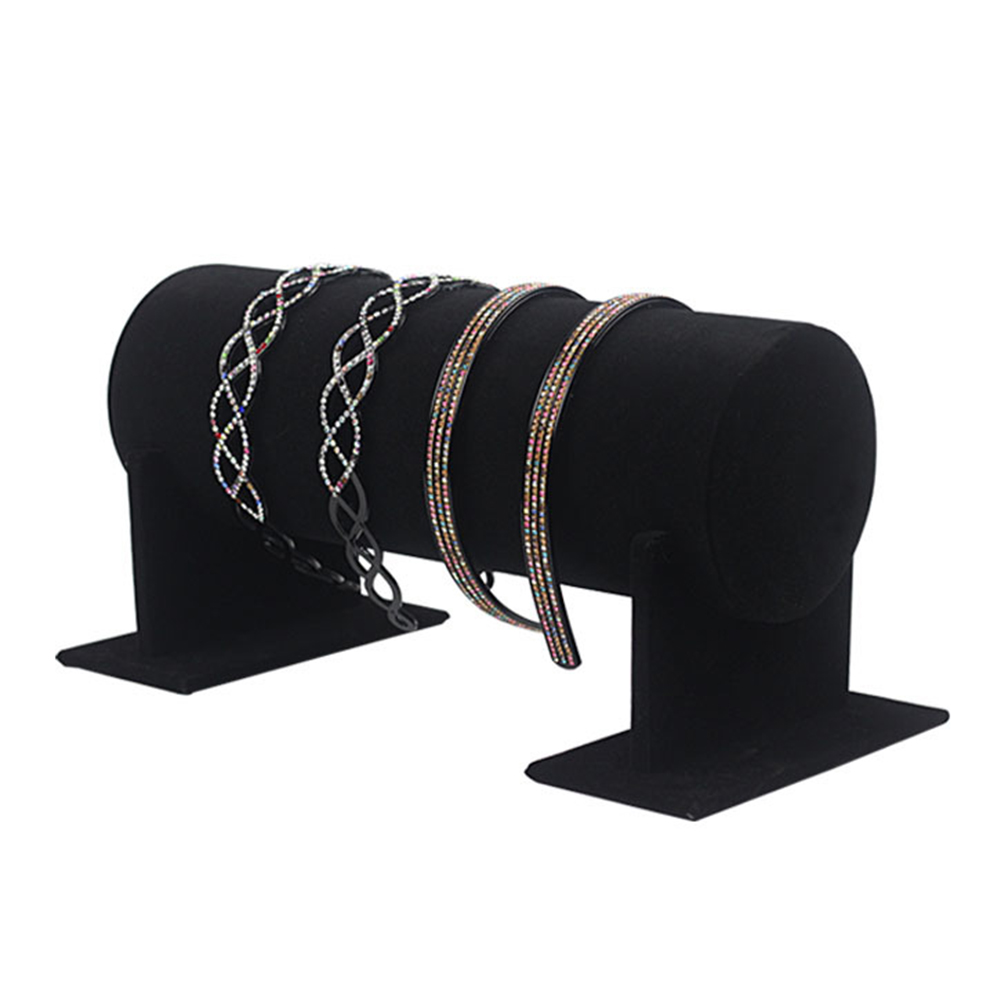 Portable Velvet Jewelry Display Stand Headband Holder Jewelry Headbands Headpieces Decorative Chains Showcase Organizer D5
