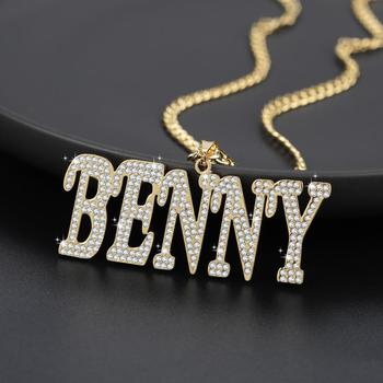 Personalized Custom Name Italic Letters Cuban Chain Necklace / Pendant Hip-hop High Stainless Steel Bling Jewelry Women Men Gift sitaicery simple men twist oblate wide chain necklace party jewelry birthday gift new hip hop gothic fashion cuban link chain