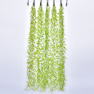 Artificial Plant Vine Green Leaves Home Wedding Decoration Plastic Plants Festive Supplies DIY Garland Background Wall Hanging