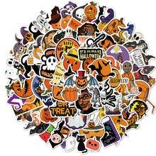 100 Uds calabaza de Halloween decoración pegatinas de grafiti de la caja del teléfono móvil del monopatín maleta impermeable pegatinas