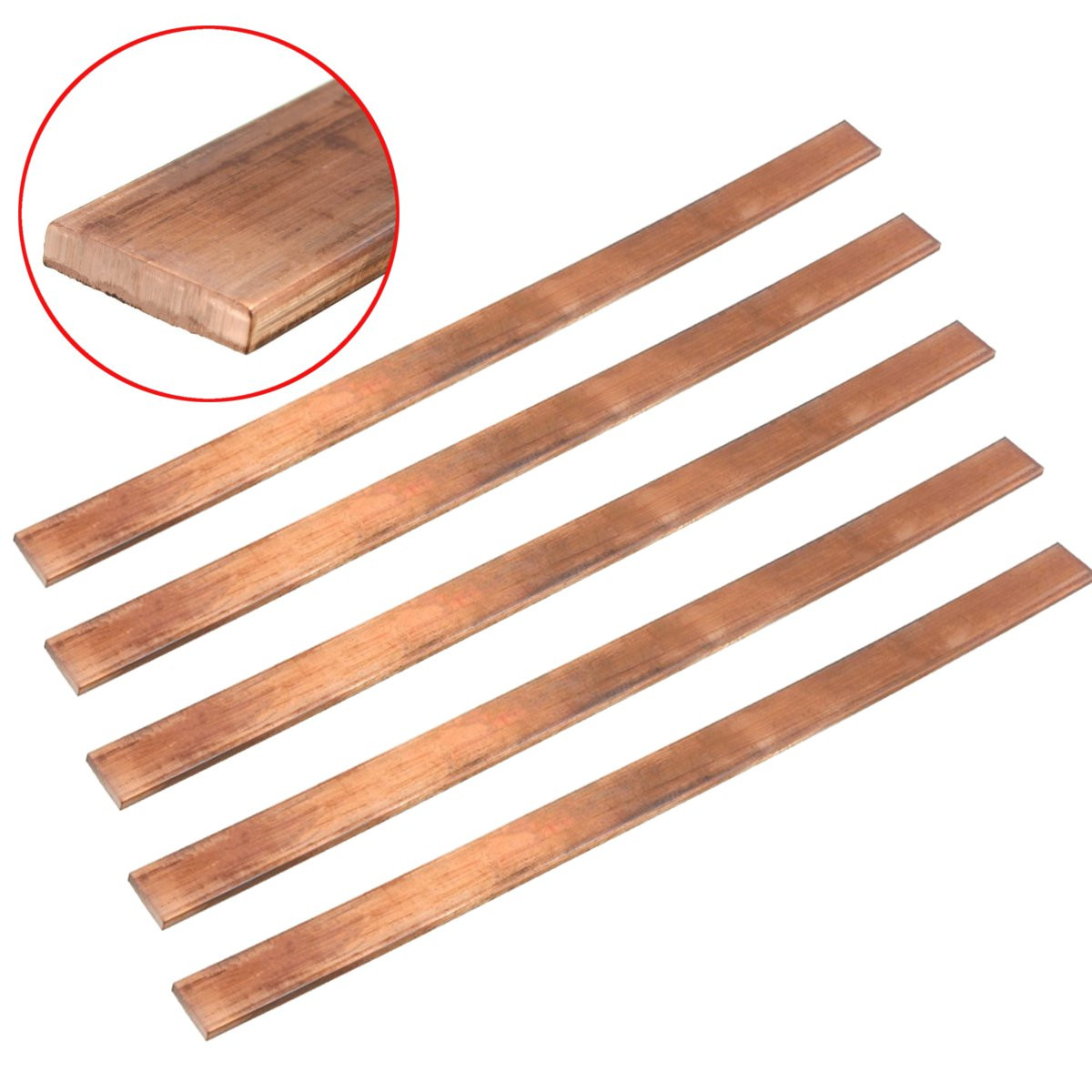 1pcs T2 Purple Copper Cu Flat Bar Plate 3mm X 15mm X 250mm Metal Strip For Electrical Appliances Construction Industries