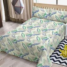 2020 new minimalist style bed sheets dormitory twill leaf print