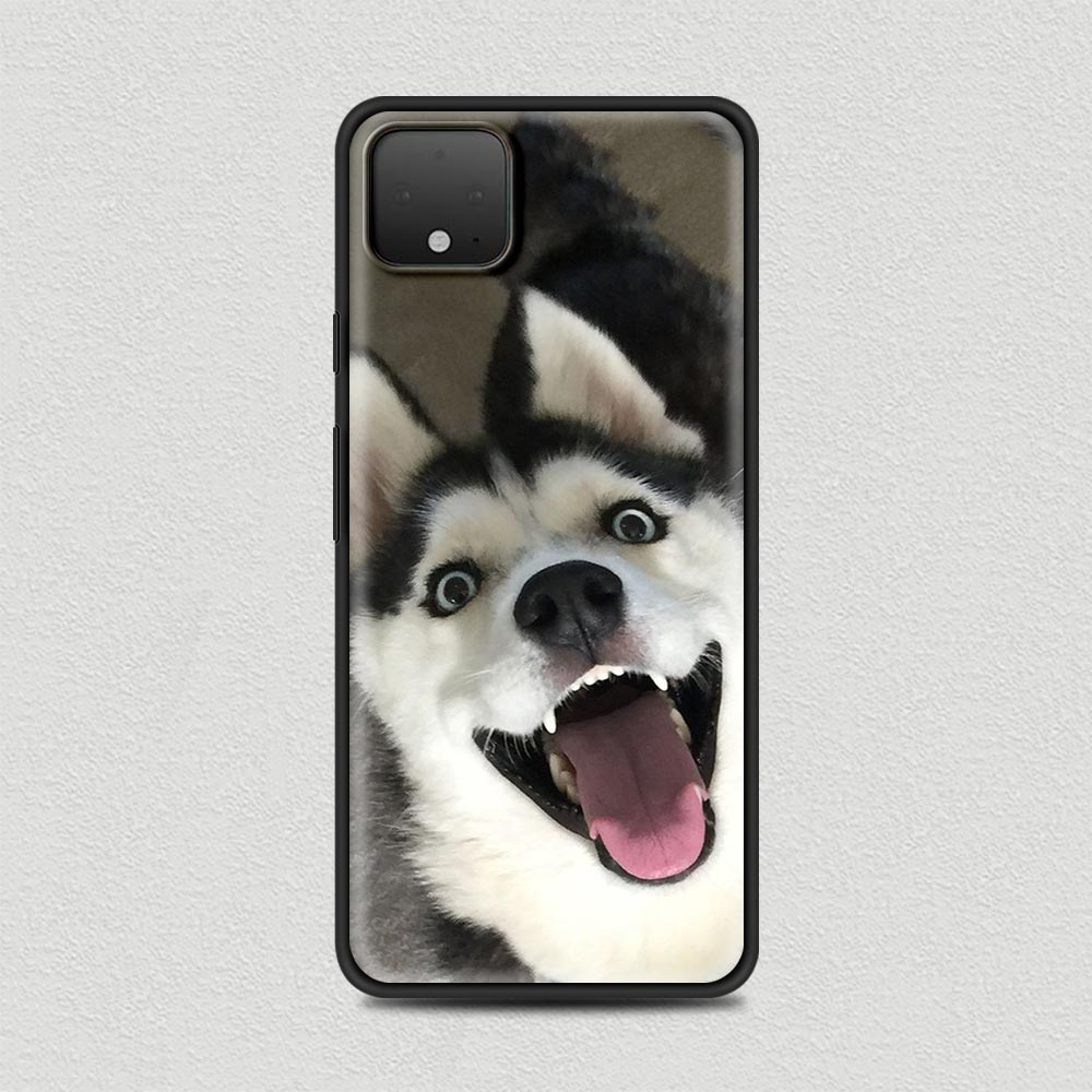 Cute Dog Silicone Phone Case For Google Pixel 4 XL 4 4A Cover For Google Pixel 5 4G 5G Soft Black Shell Coque