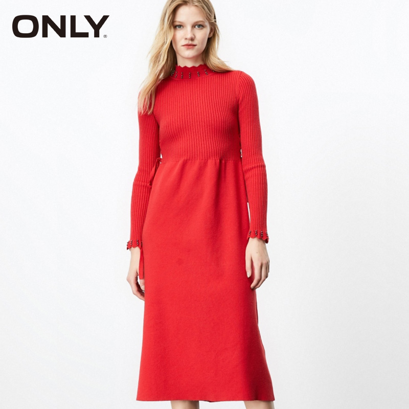 ONLY Long Cinched Waist Knitted Dress  | 119346527