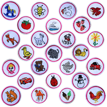 Cartoon Decorative Round Patch Dog Bear Bee Bird icon Embroidered Applique Patches For DIY Iron on Badges Stickers on backpack embroidered detail backpack with bear charm 4pcs