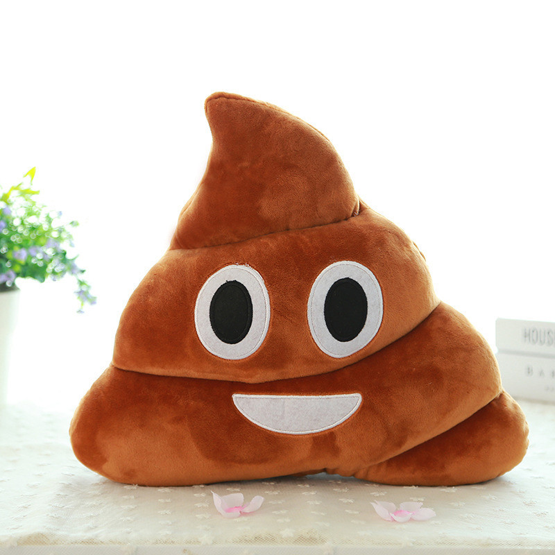 20/35CM New Pattern Lovely Brown Smiley Pillow Toy Plush Cushions Home Decor Stuffed Poop Doll Toys Gift For Children
