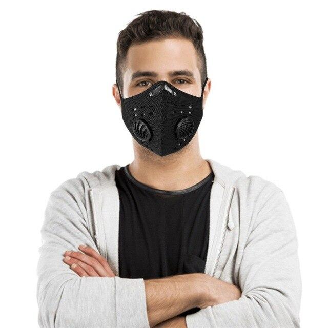 Maschera di Carbonio Nero Riutilizzabile 4