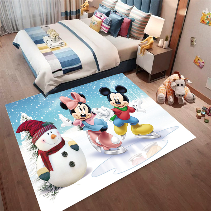 Christmas Mickey Mat Bathroom Child Boy Girl Carpet Hallway Doormat Anti - Slip Bathroom Carpet Absorb Water Kitchen Mat/Rug