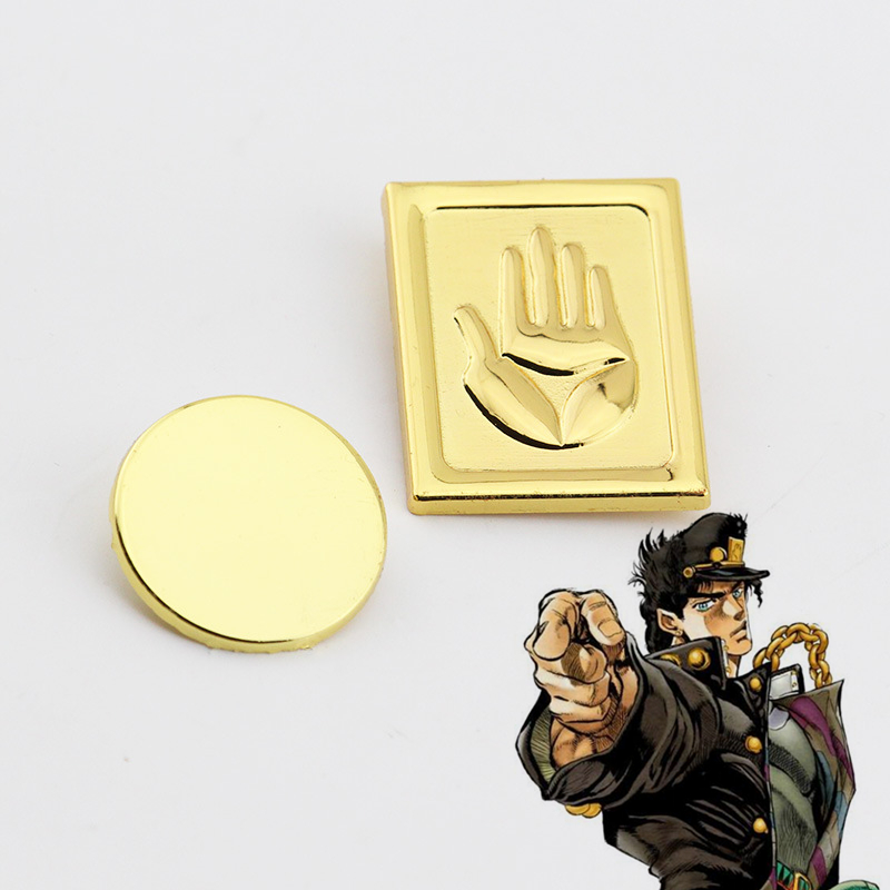 Anime Badge JoJos Bizarre Adventure Kujo Jotar Cosplay Costume Accessories Alloy Badges