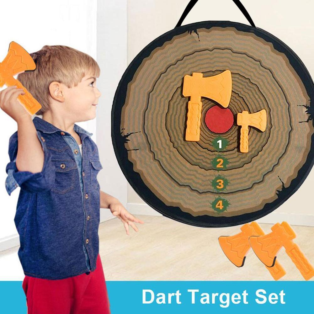Foam Ax Throwing Game Set For Kids With 2 Foam Axes Sticky Balls Children Party Games Safe Throwing Toys Party Gifts