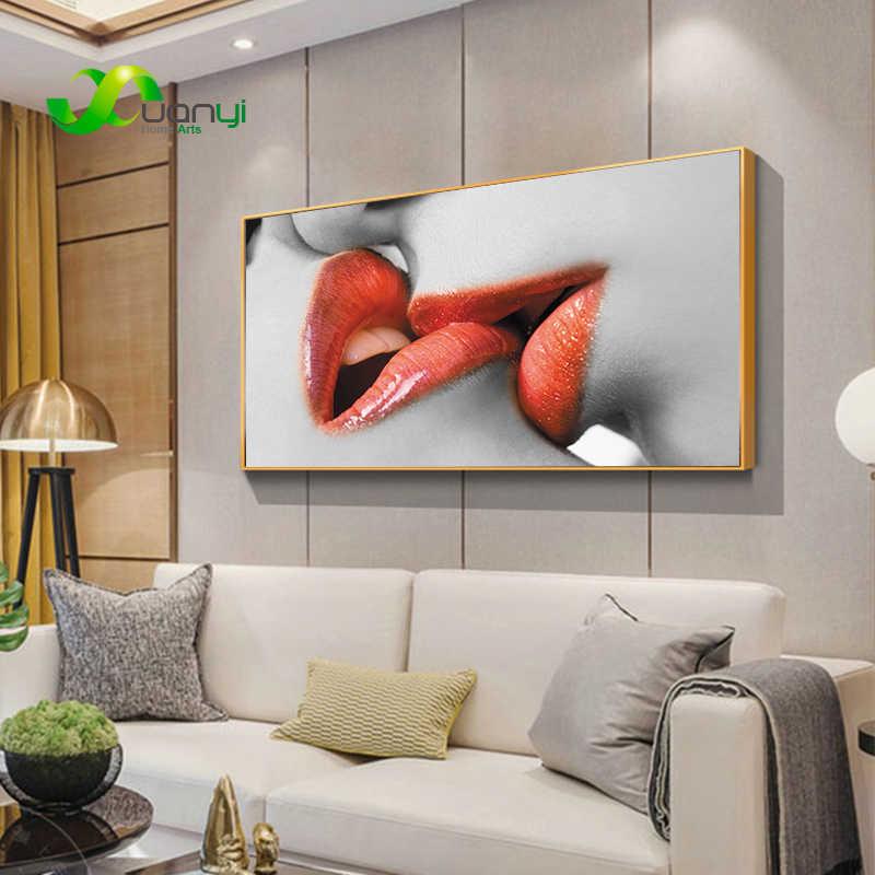 الحب قبلة مثير قماش اللوحة مجردة النفط اللوحة المشارك و طباعة صور فنية للجدران لغرفة النوم غرفة المعيشة ديكور المنزل