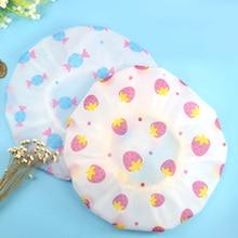 Shower-Hat Bathroom-Accessories Bath-Cap Elastic Waterproof Resuable Cute Pattern Thicken