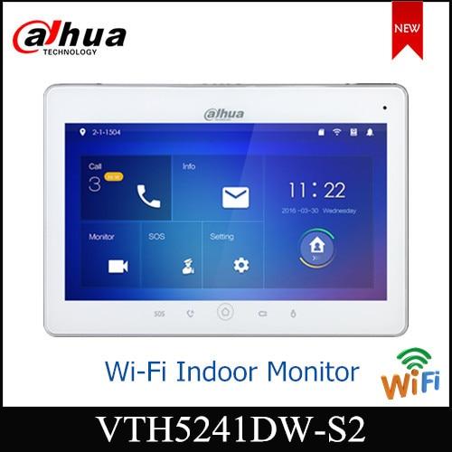 """Dahua Video intercomunicadores WiFi Monitor interior 10 """"TFT pantalla táctil para la vigilancia IPC VTH5241DW soporte tarjeta Micro SD"""