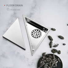 Hidden Type Deodorized Invisible Floor Drain Modern Stainless Bathroom Showers Triangle Floor Drain Covers