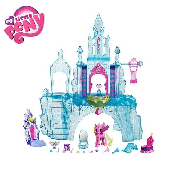 מקורי מותג הקטן שלי צעצועי פוני ידידות הוא קסם טירת קריסטל חליפת לתינוק קטן חג המולד יום הולדת מתנת ילדה Bonecas