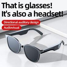 High End Audio Glasses Bone Conduction Smart Headset Sweatproof Wireless Bluetooth Handsfree Open Ear Polarized Music Sunglasses