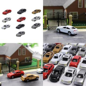 10x HO Scale Model Mini Vehicle Car 1:87 Architecture Model Train Scenery Miniature Dollhouse Mini Car Model image