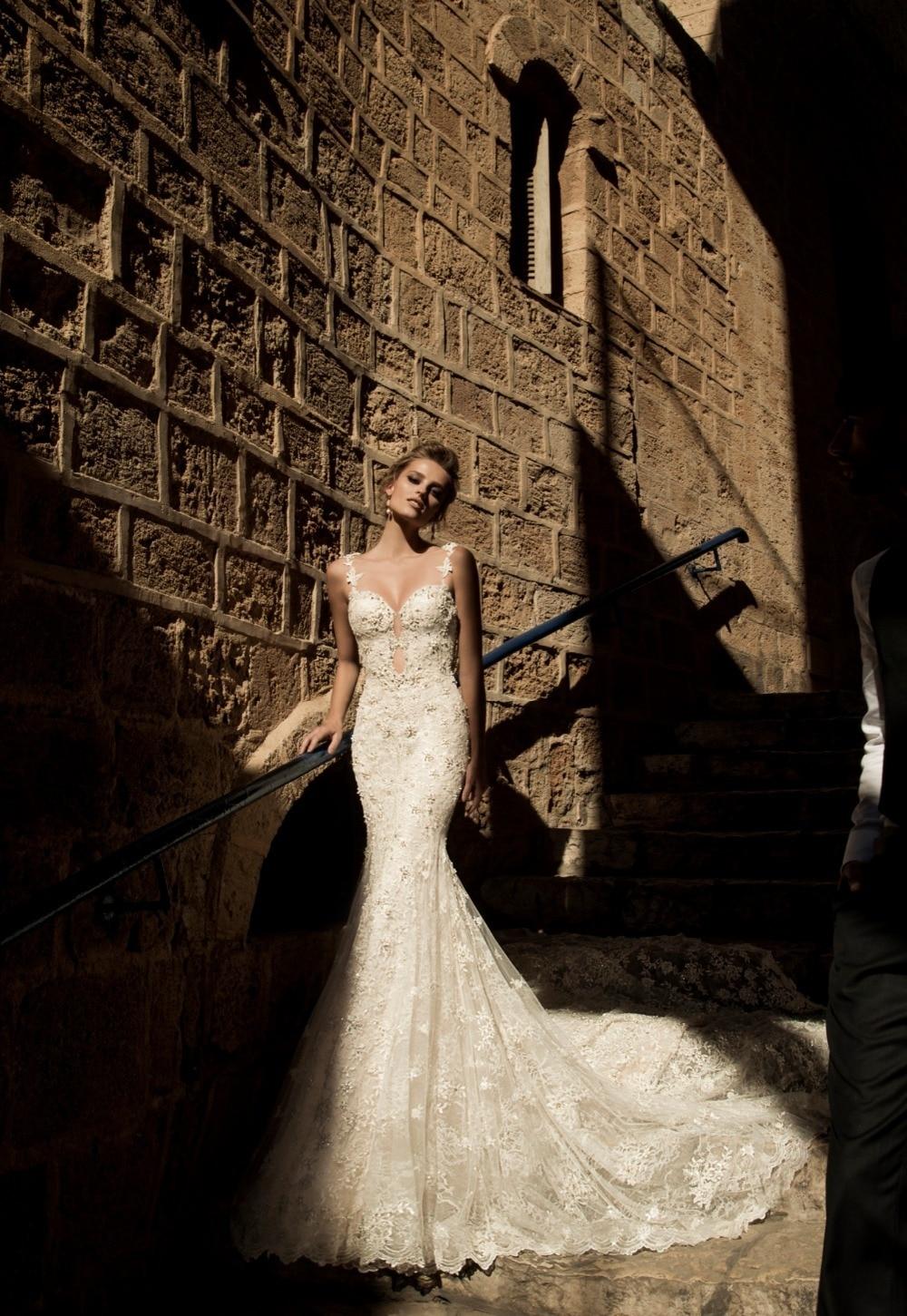 Spaghetti Strap Exquisite Beaded Applique Sexy Backless Lace 2018 Mermaid Vestido De Noiva Casamento Mother Of The Bride Dresses