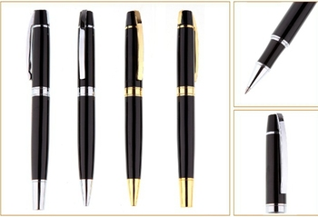 Metal pen of Ball pen&Roller pen  for lacquer finishing can make your logo for promotional gift