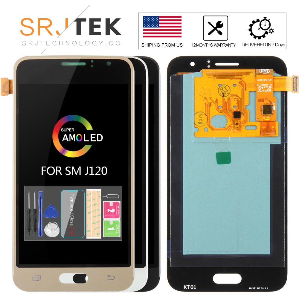 AMOLED/TFT Für <font><b>Samsung</b></font> <font><b>Galaxy</b></font> J1 2016 Display <font><b>J120</b></font> <font><b>LCD</b></font> Touch Digitizer Sensor Glas J120F <font><b>LCD</b></font> Display J120H <font><b>J120</b></font> bildschirm J120M image