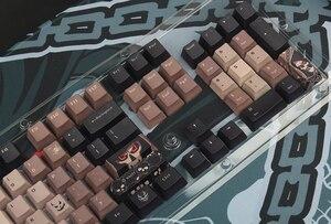 Image 5 - 108 key OEM PBT  Set Keycap Dye Sublimation Ukiyo e Japan Manga Mouse Pad For GK61 Cherry MX Switches Mechanical Keyboar