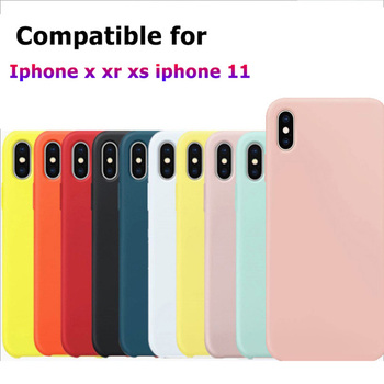 20pcs Official original like silicone case for iphone x xs xr iphone 11 pro max cases cover covers etui tok husa retail package