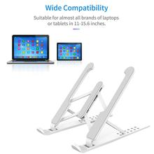 Portable Laptop Stand Made of Silicone Foldable Notebook Support Laptop Base For Macbook Pro Holder Bracket Computer Accessories