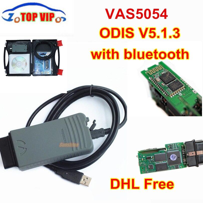 DHL VAS5054 ODIS V5.13 Newest Full Chip Auto OBD2 Diagnostic Tool VAS5054A VAS 5054A Bluetooth code reader Scanner no OKI