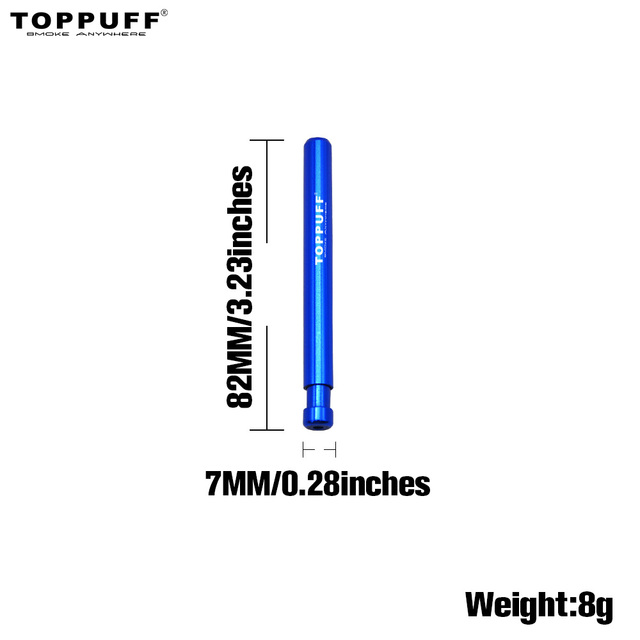 TOPPUFF New Self Cleaning One Hitter 80MM Metal Bat Tobacco Smoking Cigarette Dugout Pipe