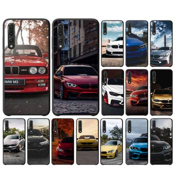 Blue Red Car For Bmw Phone Case For Huawei Honor 7A/8X/9/9Lite/10/10Lite 9X 20 20S View30/30Pro Case image
