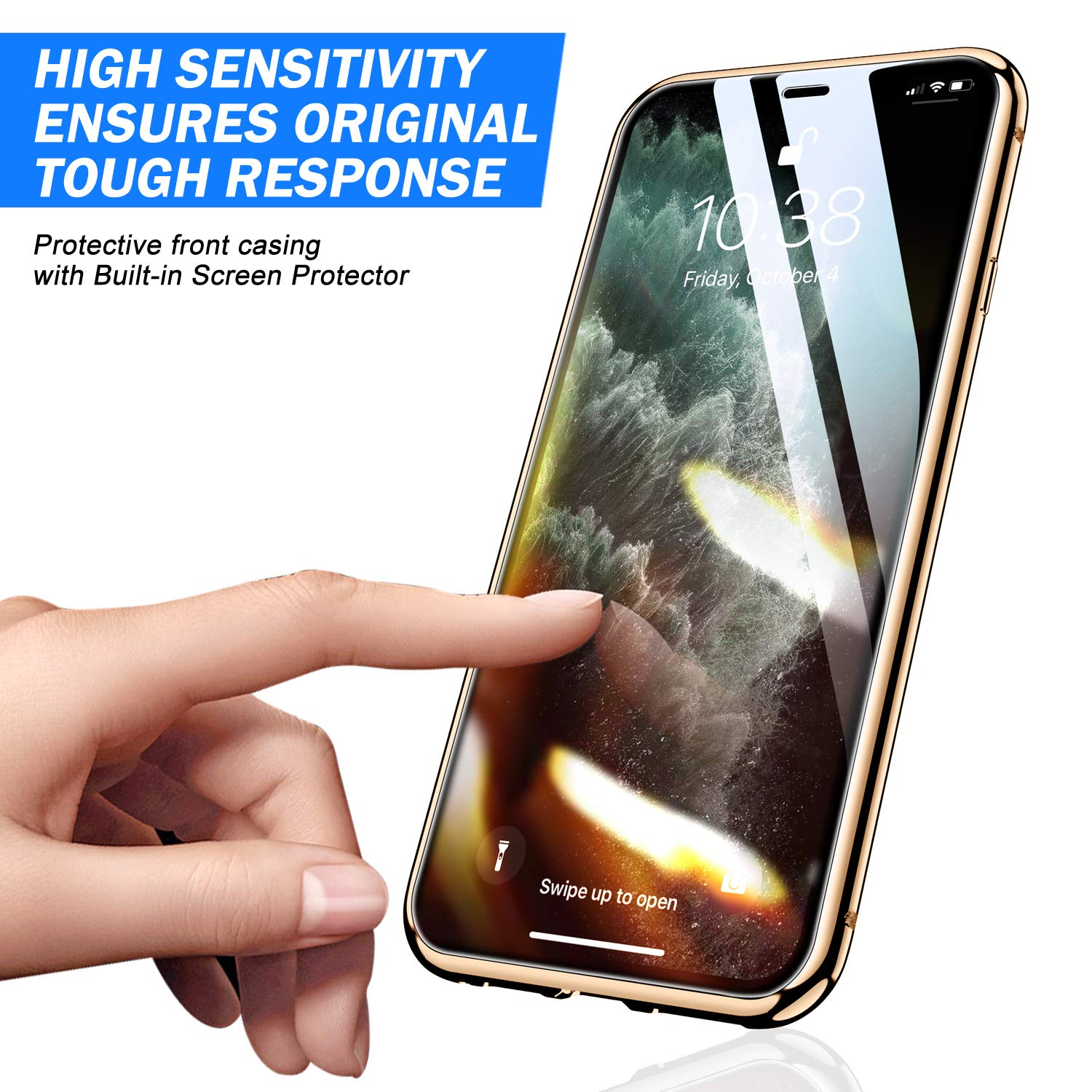 Magnetic Protective Case For IPhone 12 11 Pro XS MAX XR X 8 7 Plus With Double-Sided Tempered Glass Metal Frame Phone Cover 3