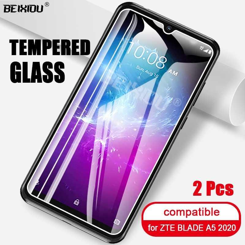 2 قطعة الزجاج المقسى الكامل ل ZTE بليد A5 2020 واقي للشاشة 2.5D 9h الزجاج المقسى ل ZTE بليد A5 2020 طبقة رقيقة واقية