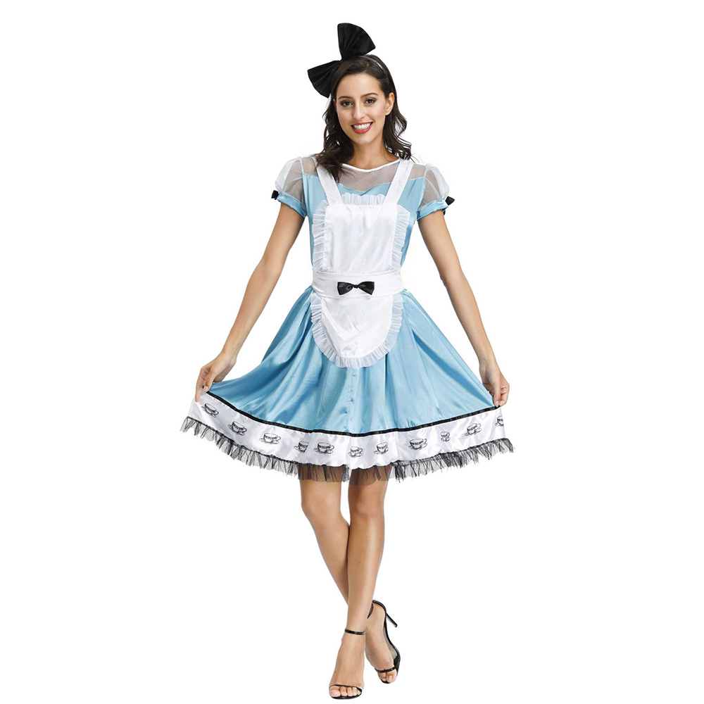 Halloween Alice In Wonderland costume for women adult alice Dream cosplay costume blue Women Sissy Maid Lolita Cosplay Costume