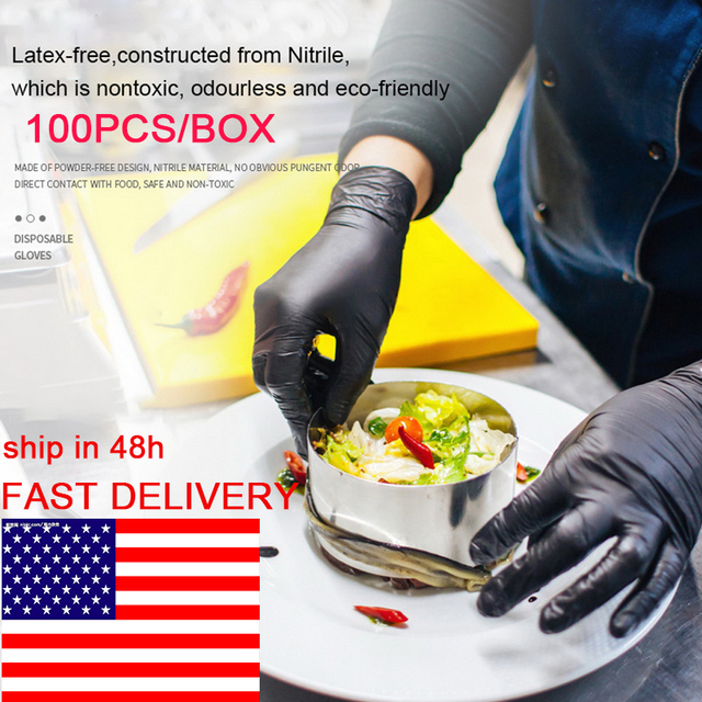100PCS/BOX Disposable Gloves Latex Dishwashing Kitchen Garden Work Rubber Gloves Universal For Left and Right Hand 1