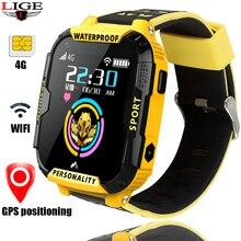 LIGE reloj inteligente 4G con GPS para niños, reloj inteligente con llamadas, vídeo, conexión wifi y un botón para bebés y niñas