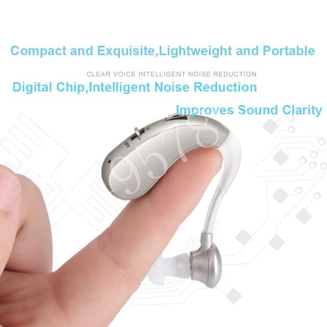 Rechargeable Mini Digital Hearing Aid Sound Amplifiers Wireless Ear Aids for Elderly Moderate to Severe Loss Drop Shipping 2