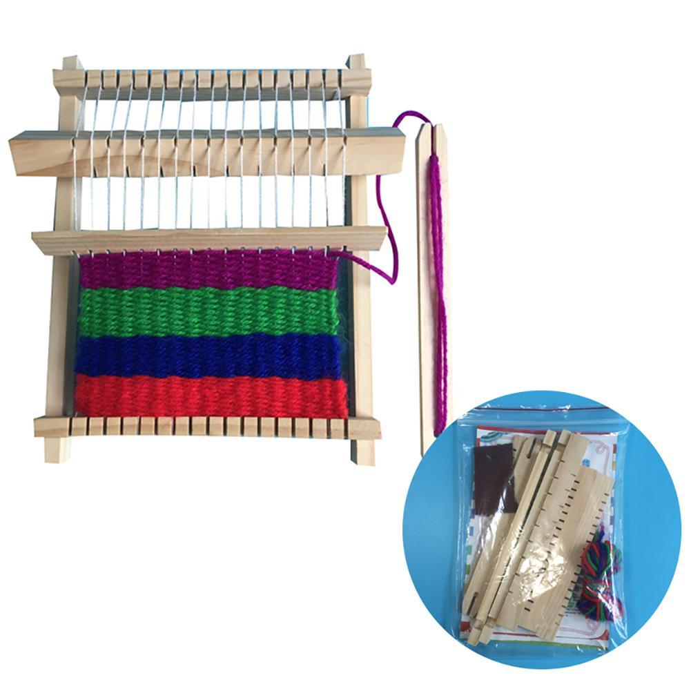 DIY Wooden Weaving Machine Loom Handicraft Intellectual Development Kids Toy