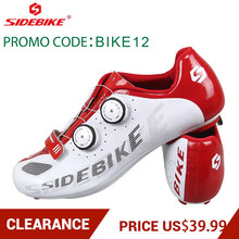 Clearance! SIDEBIKE Cycling Shoes Breathable MTB Cycling Shoes Bicycle Cycling Shoes Road Bike Shoes Promo code: BIKE120(China)